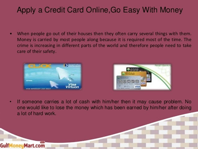 Apply A Credit Card Online Go Easy With Money