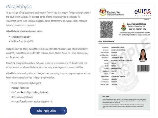 Apply Evisa For Malaysia Keymalaysia