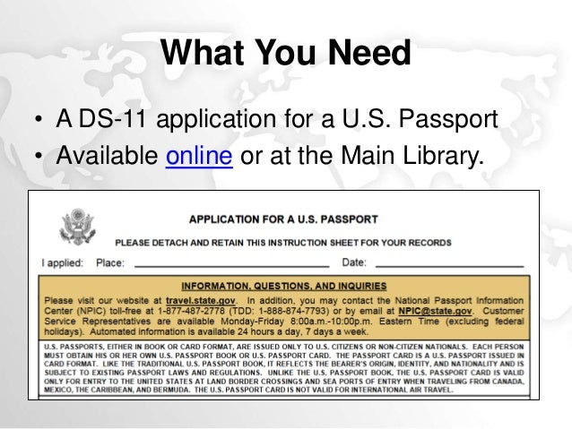 Ready Set Travel Apply For A Passport At The Library