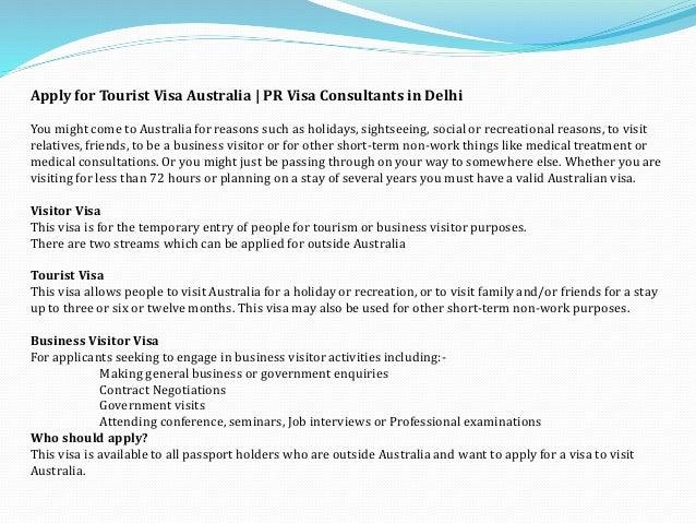 Australian Tourist Visa From India