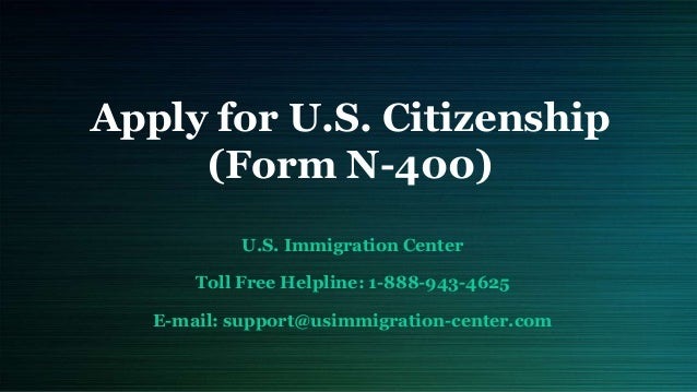 Apply For Us Citizenship Form N 400
