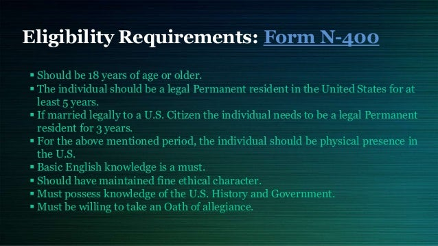 Apply for U.S. Citizenship (Form N-400)