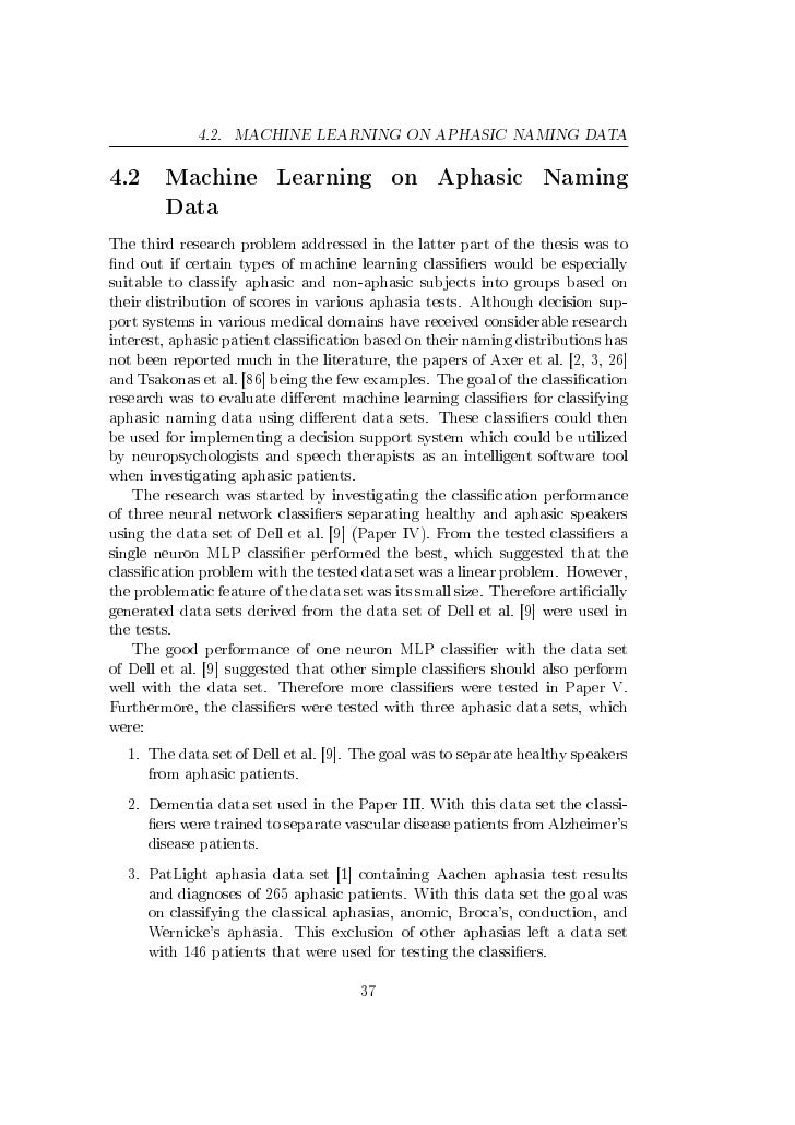 Applying Machine Learning To Agricultural Data: Applying Machine Learning Methods To Aphasic Data