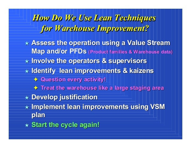Applying Lean Concepts in a Warehouse Operation