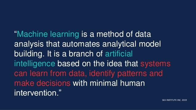 """""""Machine learning is a method of data analysis that automates analytical model building. It is a branch of artificial inte..."""