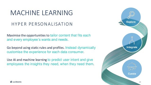 20 HYPER PERSONALISATION Go beyond using static rules and profiles. Instead dynamically customise the experience for each ...