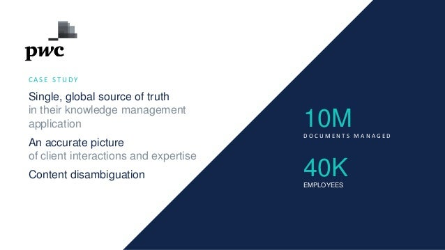 C A S E S T U D Y Single, global source of truth in their knowledge management application An accurate picture of client i...