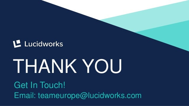 32 THANK YOU Get In Touch! Email: teameurope@lucidworks.com