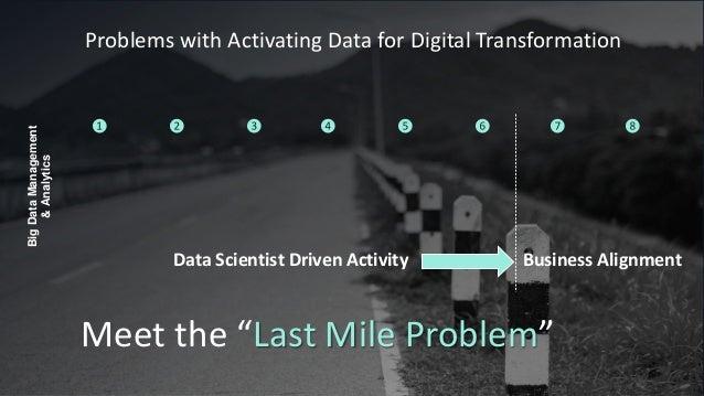 "Data Scientist Driven Activity Business Alignment Meet the ""Last Mile Problem"" BigDataManagement &Analytics ❶ ❷ ❸ ❹ ❺ ❻ ❼ ..."
