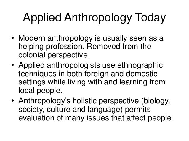 examples of applied anthropology