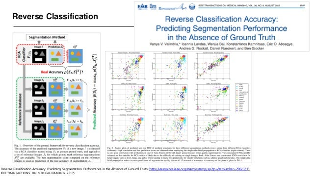 Reverse Classification Reverse Classification Accuracy: Predicting Segmentation Performance in the Absence of Ground Truth...