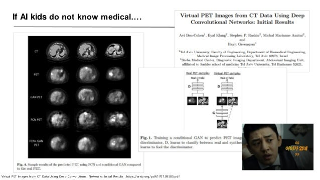 If AI kids do not know medical…. Virtual PET Images from CT Data Using Deep Convolutional Networks: Initial Results , http...