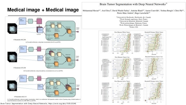 Medical image + Medical image Brain Tumor Segmentation with Deep Neural Networks, https://arxiv.org/abs/1505.03540