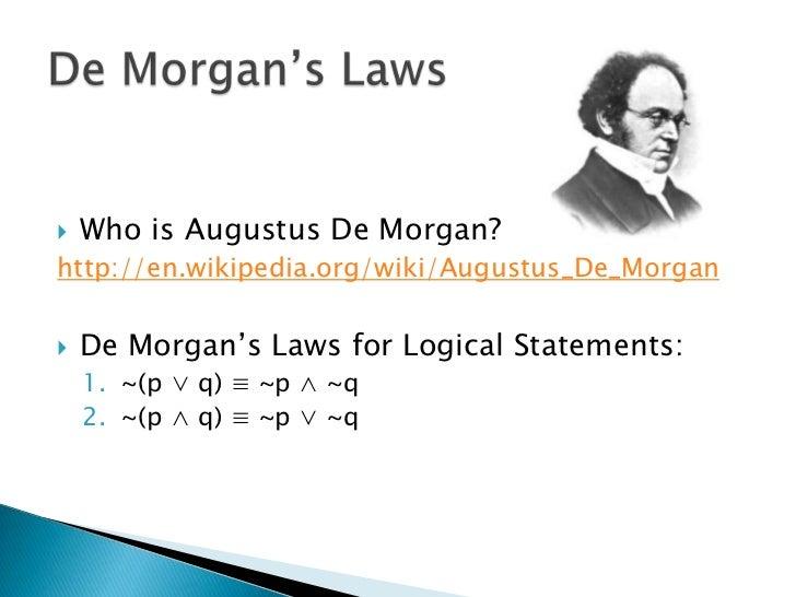 Applying De Morgan S Laws