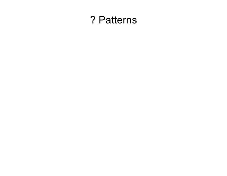 ? Patterns