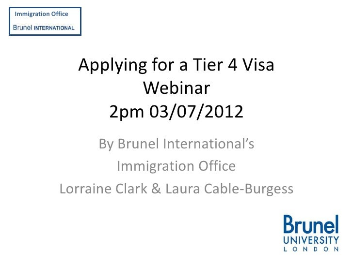 Applying for a tier 4 student visa immigration officefbrunelinternational applying for a tier 4 visa spiritdancerdesigns Choice Image