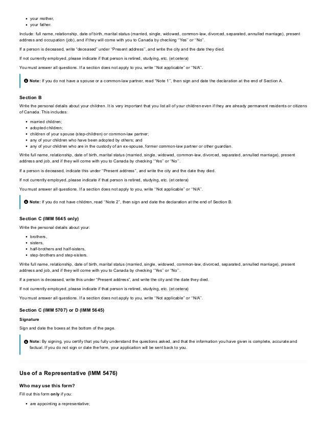 Applying For Visitor Visa Temporary Resident Visa Imm 5256