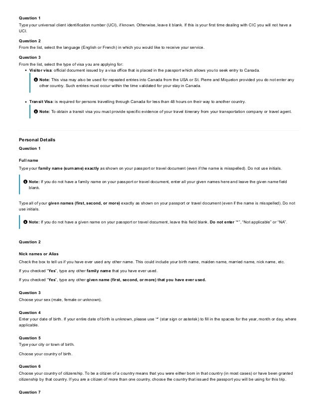 canada application for visitor visa pdf