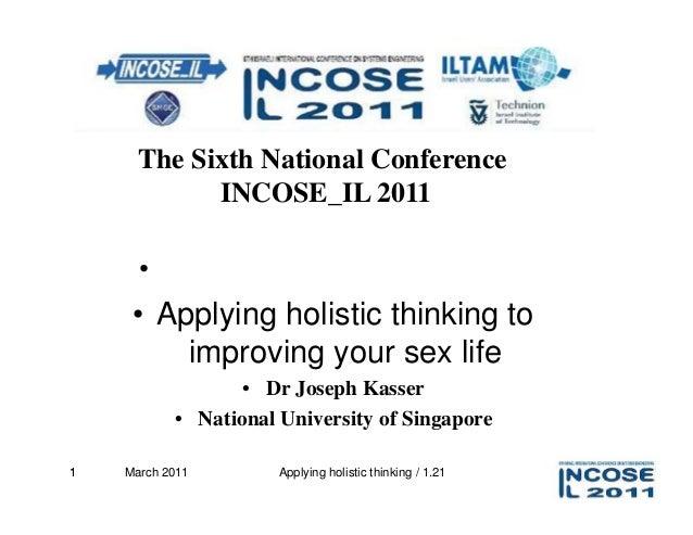 The Sixth National Conference            INCOSE_IL 2011      • חשיבה מערכתית ומידול מערכתי     • Applying holistic think...