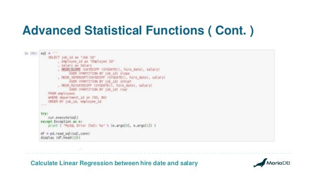 Applying linear regression and predictive analytics