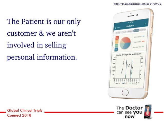 Global Clinical Trials Connect 2018 The Patient is our only customer & we aren't involved in selling personal information....