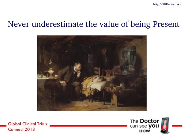 Global Clinical Trials Connect 2018 Never underestimate the value of being Present http://3GDoctor.com