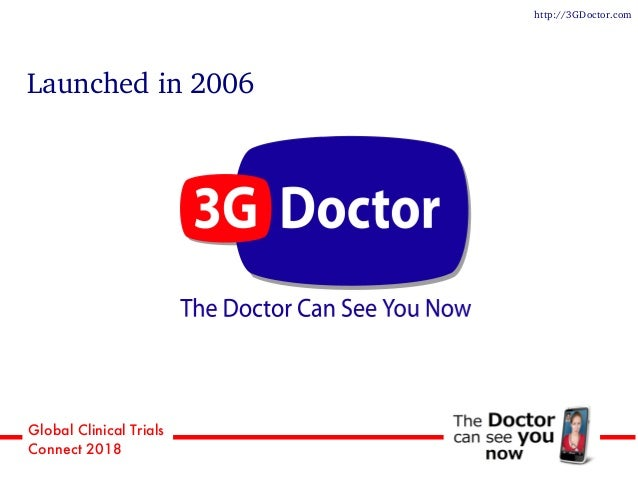 Global Clinical Trials Connect 2018 Launched in 2006 http://3GDoctor.com