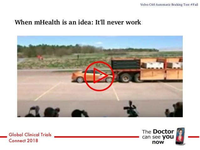 Global Clinical Trials Connect 2018 When mHealth is an idea: It'll never work Volvo C60 Automatic Braking Test #Fail