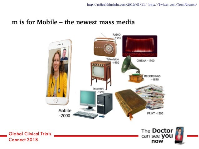 Global Clinical Trials Connect 2018 m is for Mobile – the newest mass media http://mHealthInsight.com/2010/01/11/ http://T...