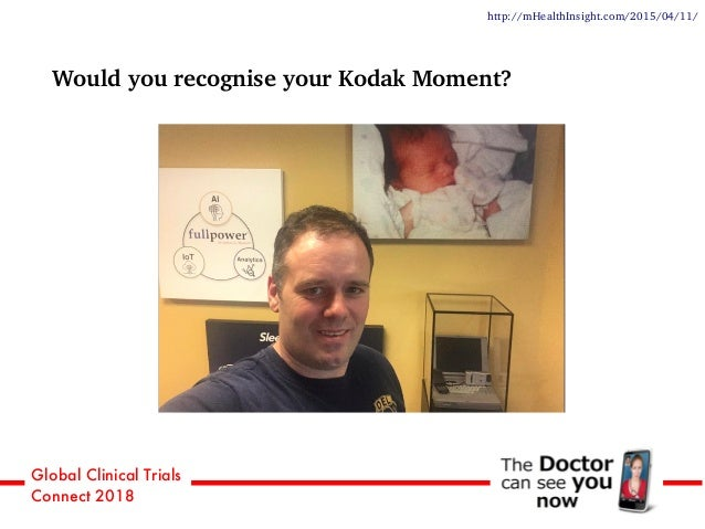 Global Clinical Trials Connect 2018 Would you recognise your Kodak Moment? We check our mobiles a day http://mHealthInsigh...