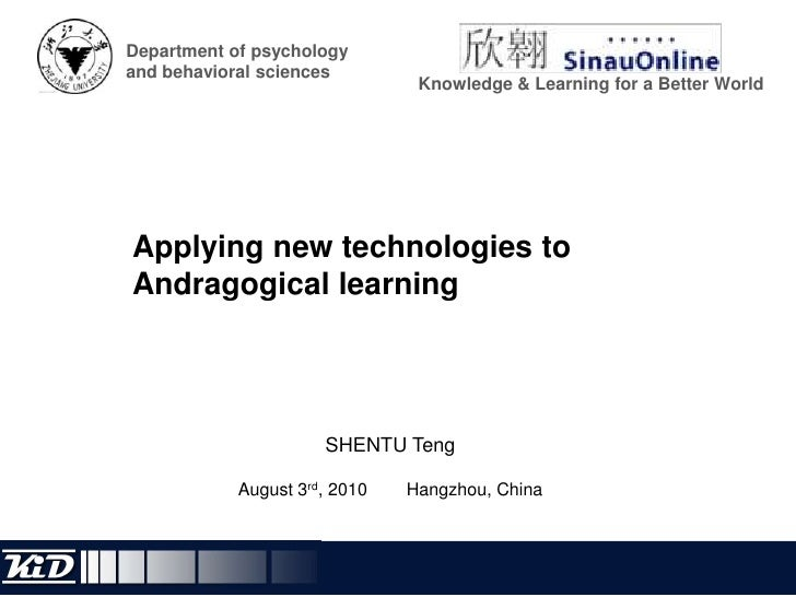 Department of psychology and behavioral sciences<br />Knowledge & Learning for a Better World<br />Applying new technologi...