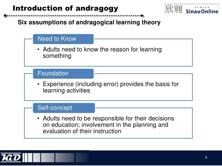 6 assumptions of the andragogical model