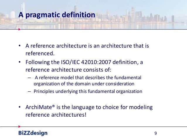Applying reference models with archi mate for Anarchitecture definition
