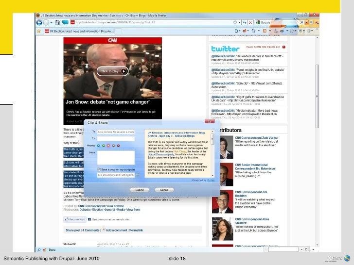 Semantic Publishing with Drupal- June 2010   slide 18