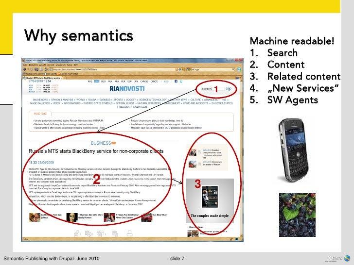 Why semantics                                         Machine readable!                                                   ...
