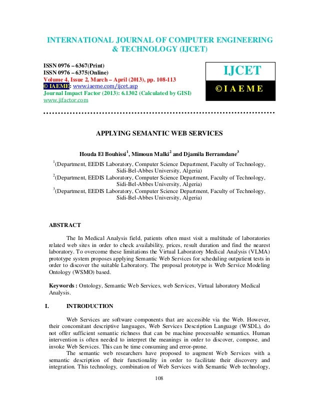 INTERNATIONALComputer Engineering and2,Technology ENGINEERING  International Journal of JOURNAL OF COMPUTER (IJCET), ISSN ...