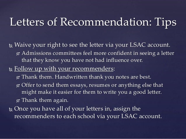 How To Add Letter Of Recommendation On Lsac