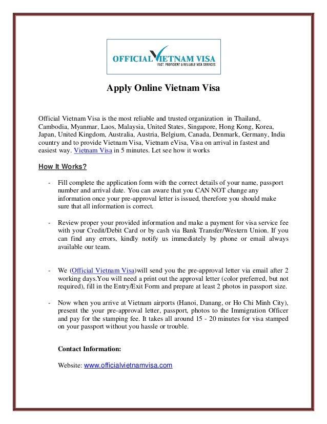 Apply Online Vietnam Visa