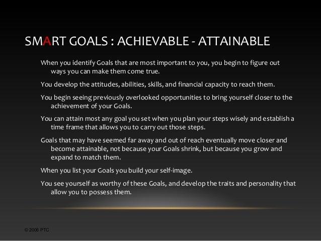 Taste SMART Professional Development Goals