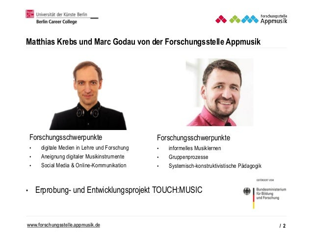 Appmusik - Besonderheiten musikpädagogischer Praxis mit Apps   GMP-Tagung Köln Slide 2