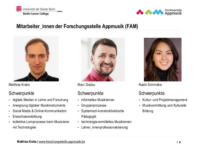 Matthias Krebs   www.forschungsstelle.appmusik.de Mitarbeiter_innen der Forschungsstelle Appmusik (FAM) / 4 Matthias Krebs...