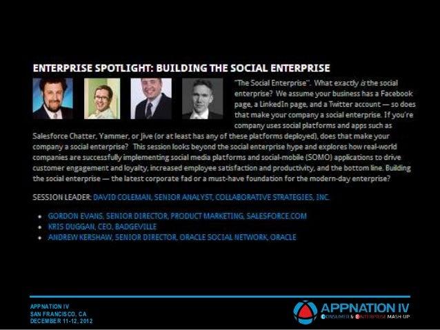 APPNATION IVSAN FRANCISCO, CADECEMBER 11-12, 2012