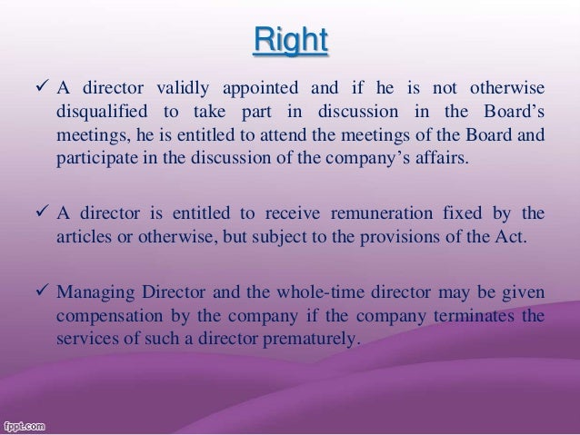 removal of a director 169 removal of directors (1) a company may, by ordinary resolution, remove a director, not being a director appointed by the tribunal under section 242, before the expiry of the period of his office after.