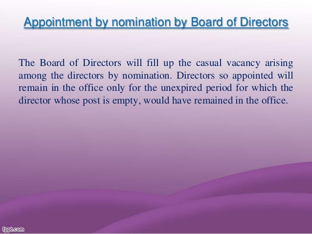 Removal of a director
