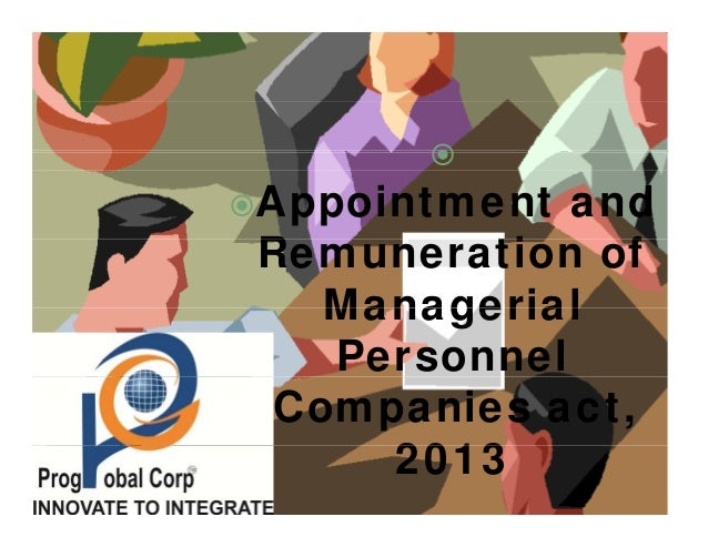 Appointment and R ti fRemuneration of ManagerialManagerial Personnel Companies act, 20132013