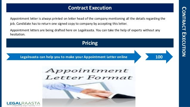 4 contractexecution contract execution appointment letter