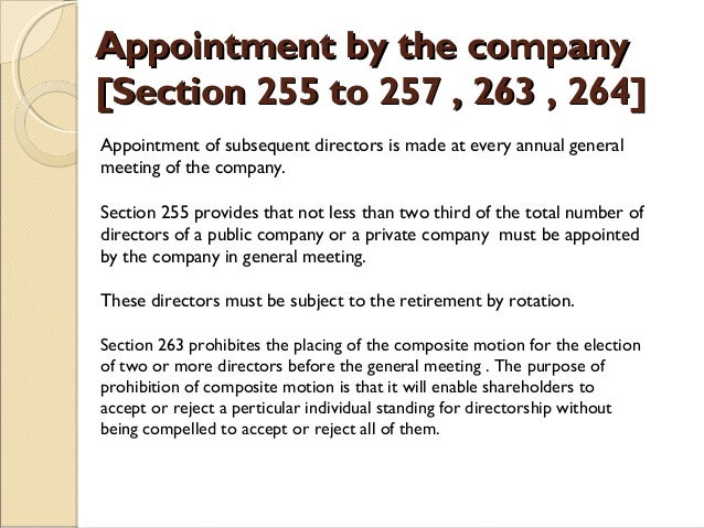 appointment of director in private company