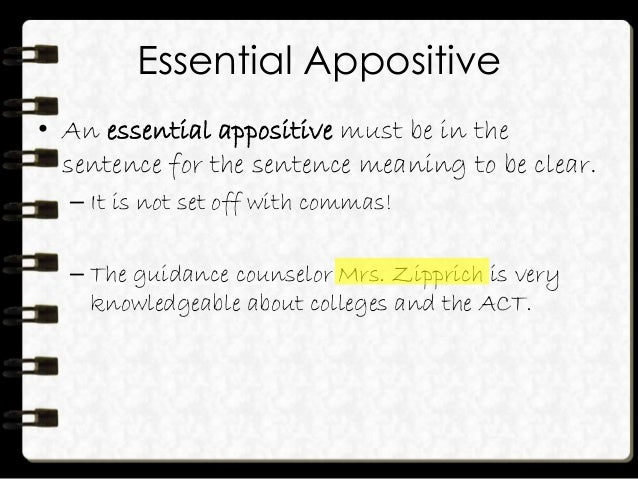 how to write an appositive phrase