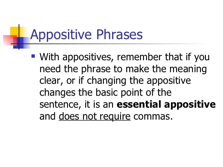 Grammar tips: Teaching appositives