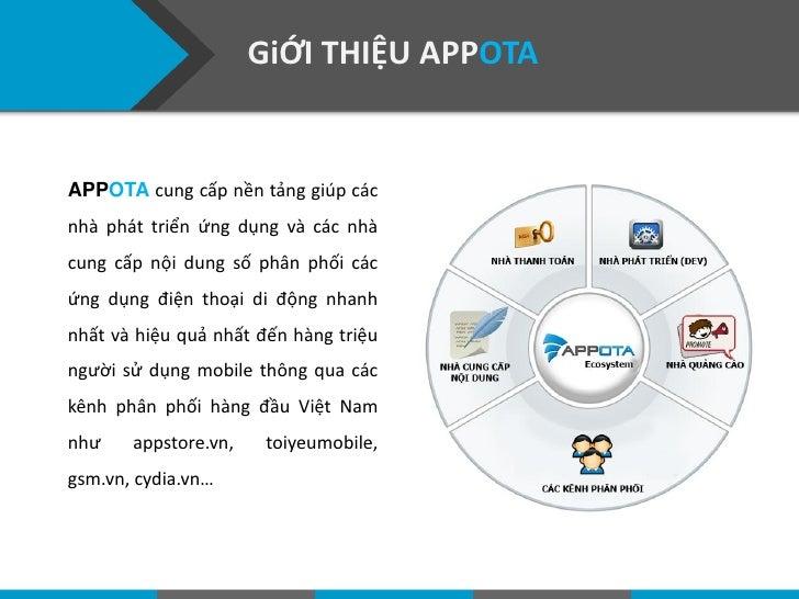 GiỚI THIỆU APPOTAAPPOTA cung cấp nền tảng giúp cácnhà phát triển ứng dụng và các nhàcung cấp nội dung số phân phối cácứng ...